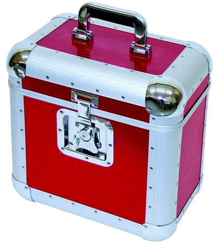 OMNITRONIC Record-case round corners, 75/25, red