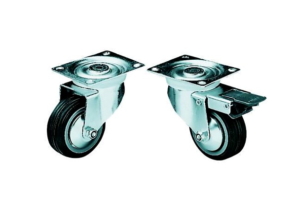 OMNITRONIC Swivel castor 80mm with brake, discoland.fi
