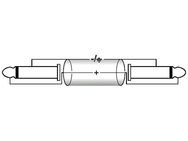OMNITRONIC Plugi-kaapeli 3m, Jack Plug 6,3mm mono - Jack Plug 6,3mm mono, väri sininen. KC-30