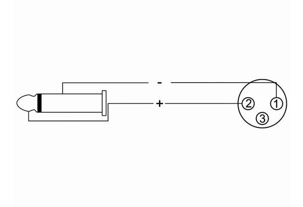 OMNITRONIC AC-215 Kaiutinkaapeli 10m 2x1,5mm². Liittimillä XLR-naaras - Jack Plug 6,3mm, väri musta