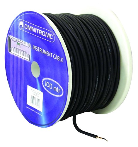 OMNITRONIC Instr.cable 0.22mm² black/ 100m
