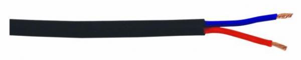 OMNITRONIC Kestävä kaiutinkaapeli 2x4mm² musta 100m kela.