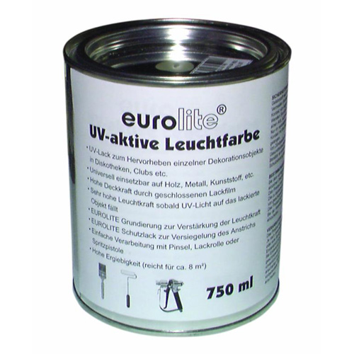 EUROLITE 750ml UV aktiivinen maali, Pinkki,UV-active paint, pink 750ml