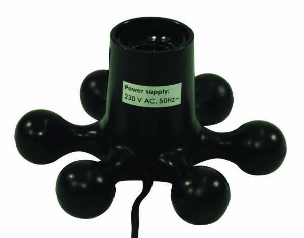 EUROLITE Jalusta ja lampunkanta E-27 lampulle. Max. 60W polttimo, kuten UV tai LED tai strobe! Mitat 155 x 85 mm  sekä paino 0,5kg.