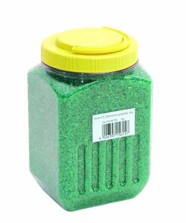 EUROLITE UV granulate green 1kg, discoland.fi
