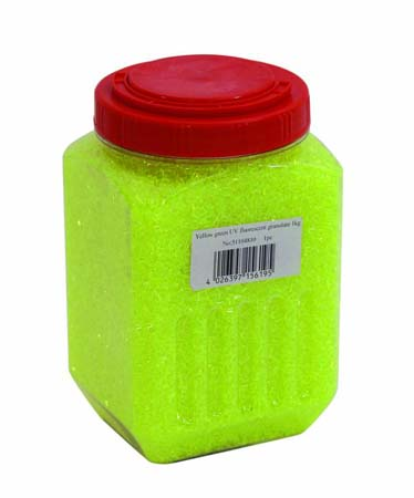 EUROLITE UV granulate yellow-green 1kg, discoland.fi