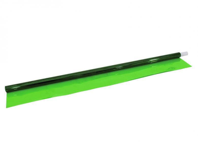 EUROLITE Värikalvo 121 vaaleanvihreä 50x61cm. Lämpöä kestävä värikalvo sopii lähes kaikille valoille, oli sitten kyseessä hehkulampusta, halogeenista tai LEDistä. Kestävyyden kannalta etäisyysarviot halogeenipolttimosta kalvoon 30W 2cm, 50W 3cm, 100W 6cm, 300W 10cm, 500W 13cm. Voidaan laittaa lähemmäksikin, mutta väri palaa pois kalvosta nopeasti