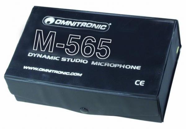 OMNITRONIC M-565 Dynamic studio microphone, Dynaaminen Mikrofoni