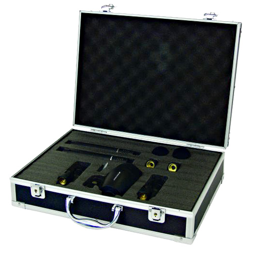OMNITRONIC DSM-500 Complete Drum microphone set, Rumpumikrofoni setti upeassa salkussa!