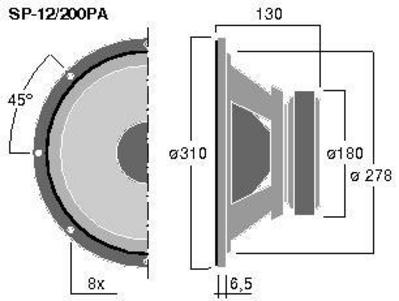 MONACOR POISTUNUT TUOTE SP-12A/300PA 12