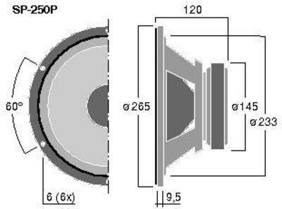 MONACOR SP-250P 10