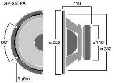 MONACOR SP-250PA 10