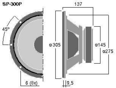 MONACOR SP-300P 12