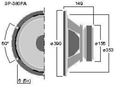 MONACOR SP-380PA 15