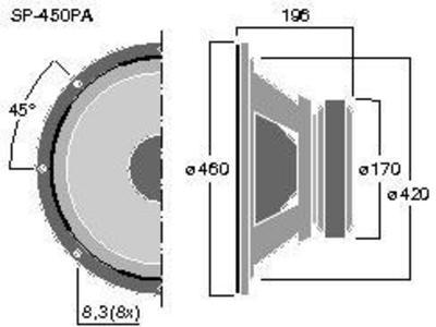 MONACOR SP-450PA 18
