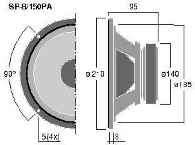MONACOR SP-8/150PA  8
