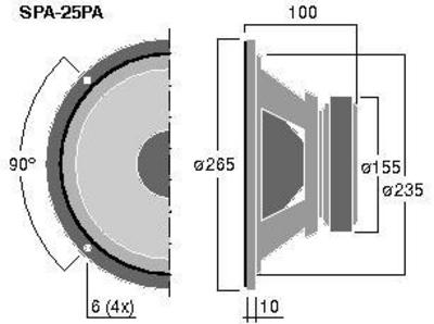 MONACOR SPA-25PA 10