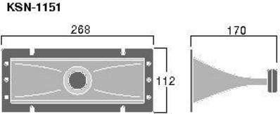 MONACOR POISTUNUT TUOTE KSN-1151 Tweeter horn