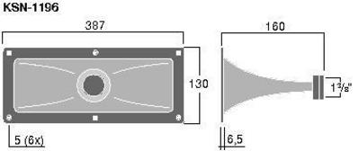 MONACOR POISTUNUT TUOTE KSN-1196 Mid-high range horn