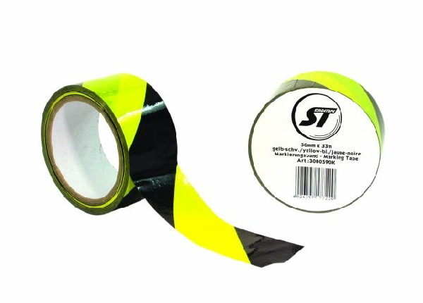 ST Stagetape Marking Tape yellow/black 50mmx33m, Ammattimiehen teippi!!!