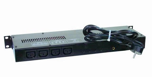 EUROLITE Chaser-Controller, Valo-ohjain, juoksutuksilla, 405 IEC 4 channel x 1150W, Max. output 3680W, IEC sockets, 19