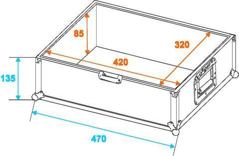 ROADINGER CD-soittimen kuljetuslaatikko, joka sopii mm-Pioneer CDJ-1000 and CDJ-800, CDJ-850, CDJ-900+ CDJ-2000 menee just, kun vähän soveltaa, myös Nexus mallit. Mitat 370 x 470 x 220 mm sekä paino 6.0kg.