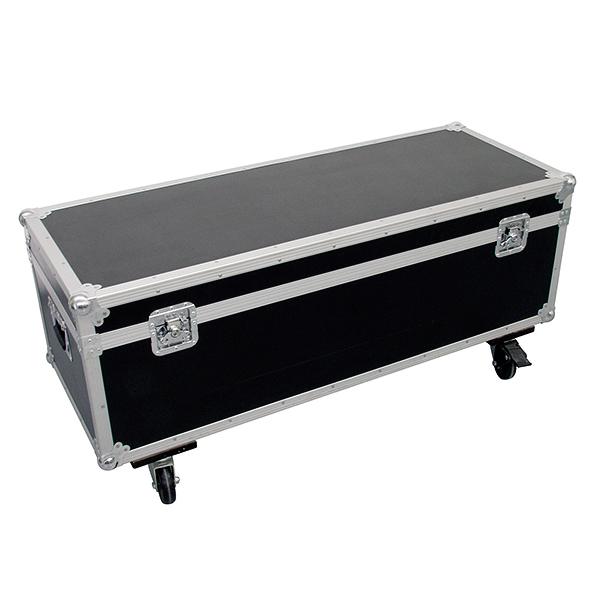 OMNITRONIC Kuljetuslaatikko neljälle värinvaihtajalle, pyörillä. Professional flight case for 4x PCC-250 with castors