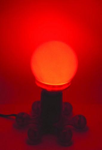 OMNILUX LED-lamppu globe 95mm red E27