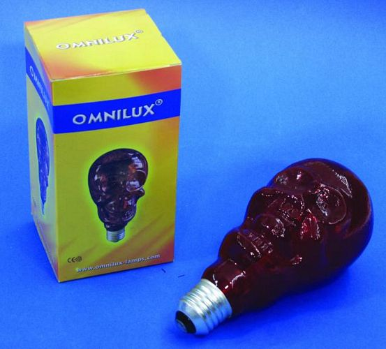 OMNILUX LOPPU!!Skull 230V/75W E-27 red 8, discoland.fi