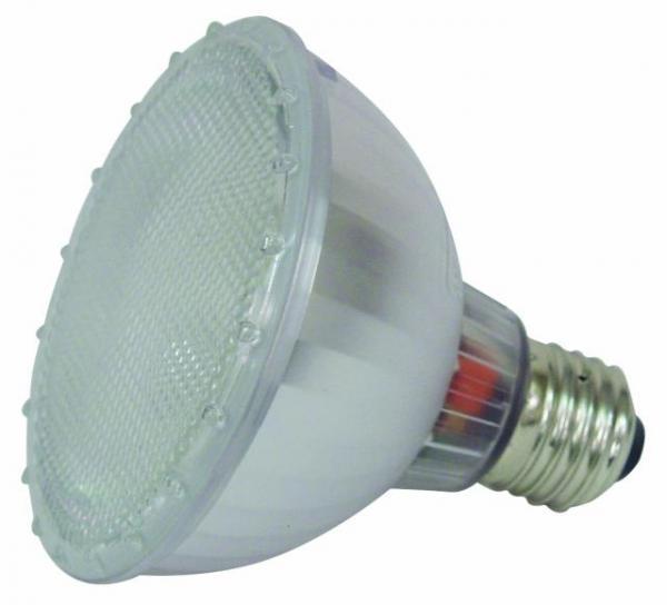 OMNILUX PAR-30ES 230V/15W E27 6400K energiansäästölamppu, erittäin pineikulutuksinen par 30 lamppu. Polttoikä 5000h. Värilämpö 6400k. Energy saving