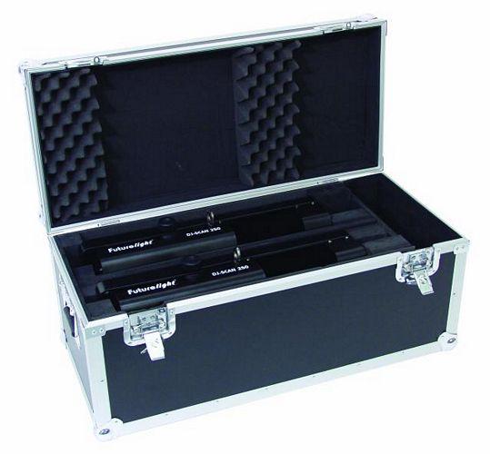 OMNITRONIC Kuljetuslaatikko DJ Scan 250, Flightcase for 2x DJ-Scan + CY 200/250