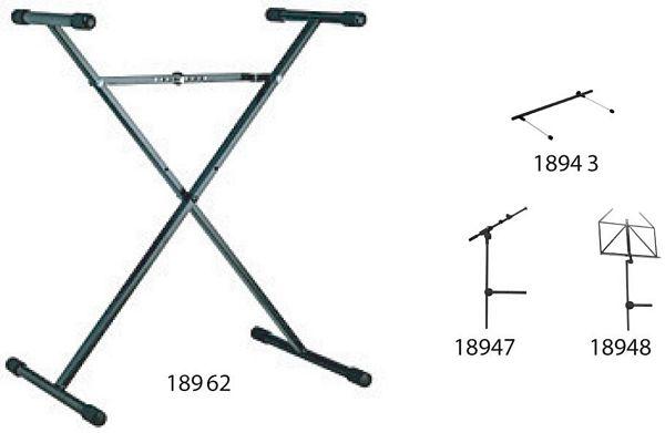 KÖNIG & MEYER 18962, Keyboard-teline, v, discoland.fi