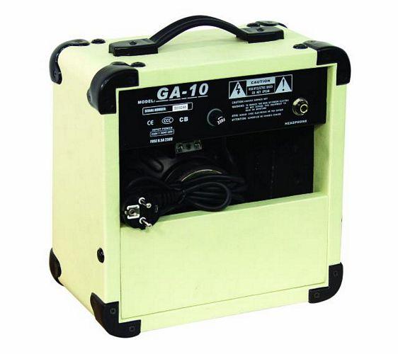 DIMAVERY GA-10 E-Guitar-Amp 10 W, White, 6