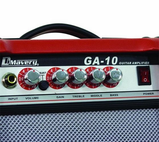 DIMAVERY GA-10  E-Guitar-Amp 10 W,  D-Red, 6