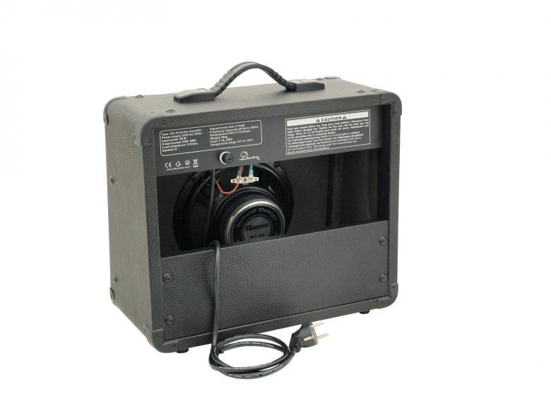 DIMAVERY GA-30R Kitaracombo 30W vahvistin, kaksi kanavaa (puhdas ja särö), kolmialueinen eq äänen muokkaukseen, kuulokeulostulo, digitaalinen kaiku, 8