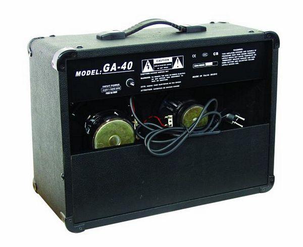 DIMAVERY GA-40R Kitaracombo tehokas 40W vahvistin, kaksi kanavaa (puhdas ja särö), kolmialueinen eq äänen muokkaukseen, kuulokeulostulo, digitaalinen kaiku, 8