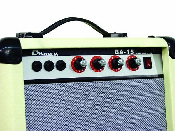 DIMAVERY BA-15 bass-amplifier 15W, white, 6