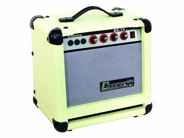 DIMAVERY BA-15 bass-amplifier 15W, white, discoland.fi