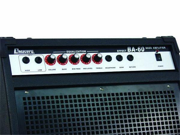 DIMAVERY BA-60 Bassovahvistin combo 60W. Combo bass-amplifier, 12