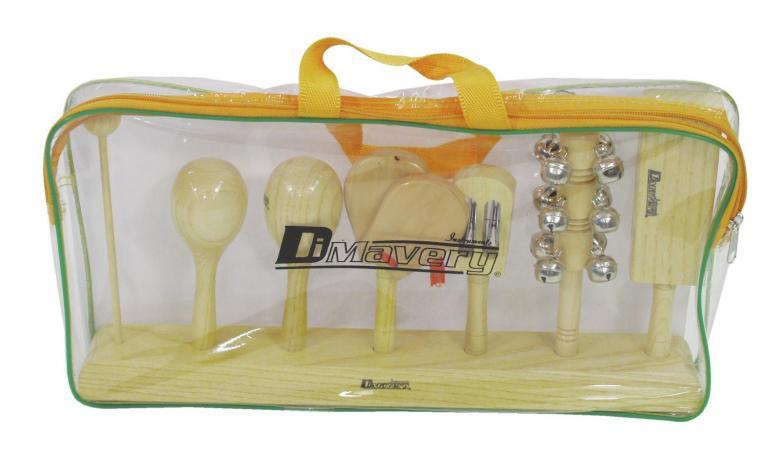 DIMAVERY Käsiperkussiosetti I, 6 osainen, muovisessa kuljetuspussissa.