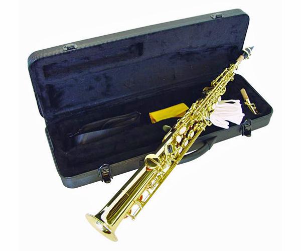 DIMAVERY SP-10 Bb Sopraanosaksofoni. Soprano Saxophon, Straight form with case