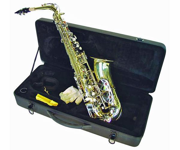 DIMAVERY SP-30 Eb Alttosaksofoni, kulta. Alto Saxophon, gold