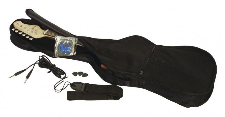 DIMAVERY ST-203 Sähkökitara ST-Style, musta. Uusia värejä ja lankun kuviointeja Dimaveryn Stratocaster-malleissa. Erinomainen kitara aloittelijoille, kuin jo vähän pitemmällekin ehtineille soittajille. Tarvitset vain kitaravahvistimen tai USB-interfacen aloittaaksesi soittamisen. Loistava viimeistely sekä maalipinta joka hakee vertaistaan hintaluokassaan! Tuotepaketti sisältää kitaran, plektran, kaapelin vahvistinta varten sekä varakielet!