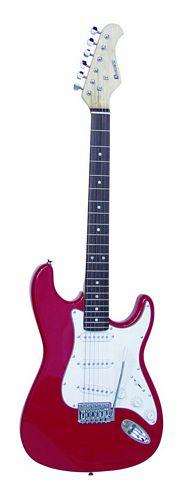 DIMAVERY ST-203 E-Guitar red, Uusia vär, discoland.fi
