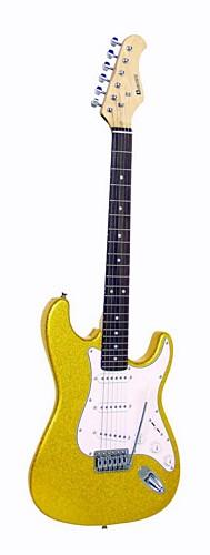 DIMAVERY ST-303 E-Guitar gold-glitter, discoland.fi