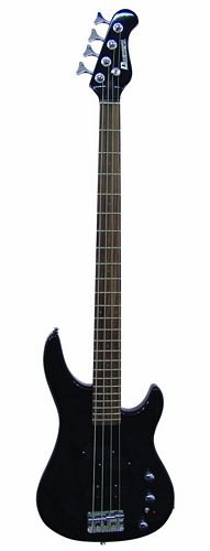 DIMAVERY DRB-69 Bass Guitar Black / Red LEDs