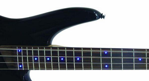 DIMAVERY DRB-69 Basso Kitara Musta / Blue LEDs