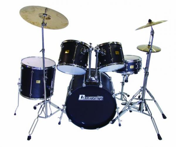DIMAVERY DS-515 Rumpusetti  5 Osainen, Musta, 5pcs Drum set, Black
