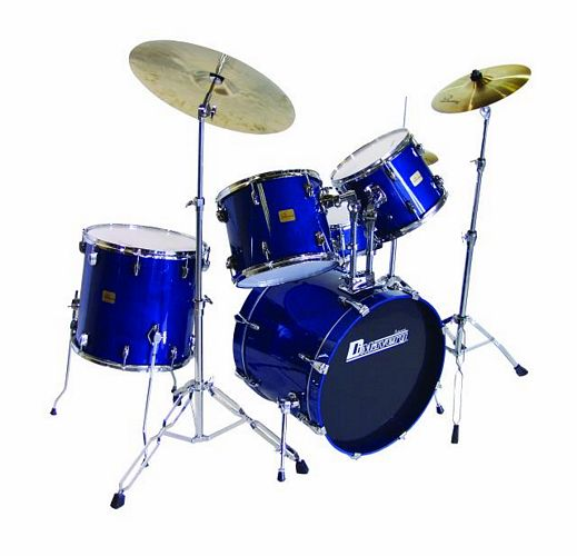 DIMAVERY DS-405 Drum Set 5pcs. blue