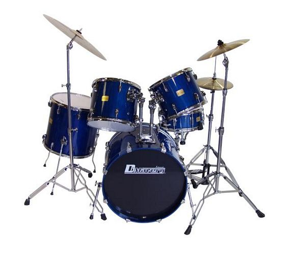 DIMAVERY DS-405 Drum Set 5pcs. blue, discoland.fi